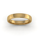 Soft Court Heavy Wedding Ring in 18ct Yellow Gold (4mm)