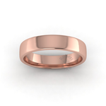 Soft Court Heavy Wedding Ring in 9ct Rose Gold (5mm)