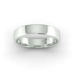 Soft Court Heavy Wedding Ring in 9ct White Gold (5mm)