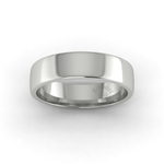 Soft Court Heavy Wedding Ring in 18ct White Gold (6mm)
