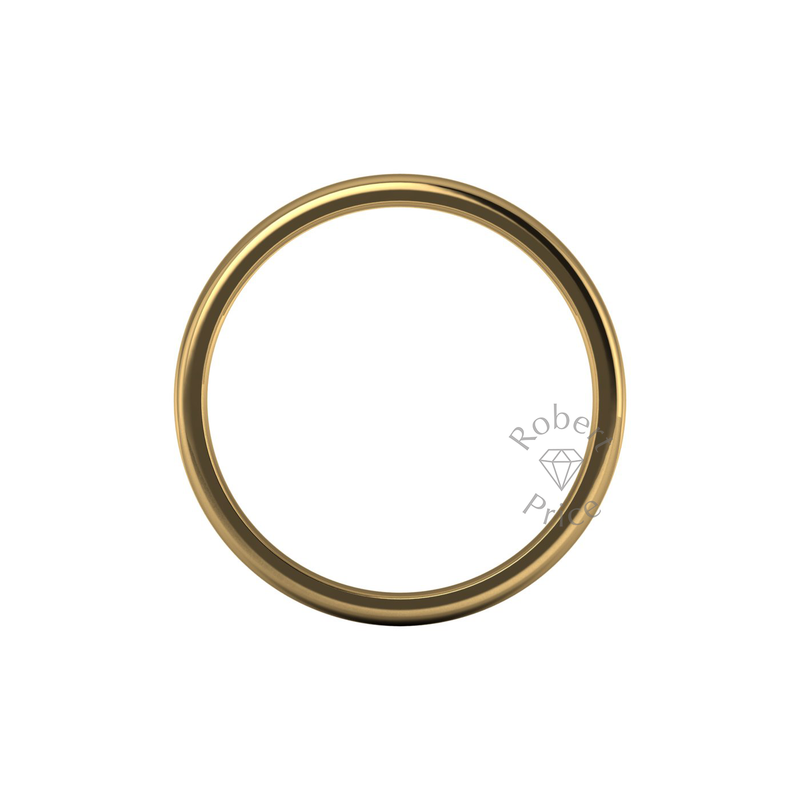 Soft Court Heavy Wedding Ring in 18ct Yellow Gold (6mm)