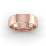 Soft Court Heavy Wedding Ring in 18ct Rose Gold (7mm)