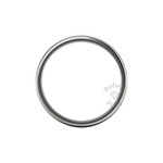 Soft Court Heavy Wedding Ring in 18ct White Gold (7mm)