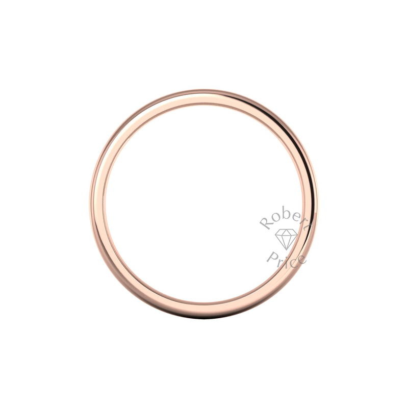 Soft Court Heavy Wedding Ring in 9ct Rose Gold (8mm)