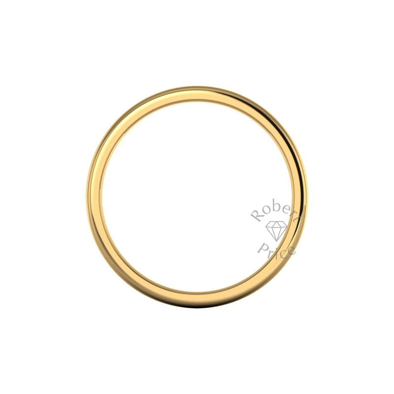 Soft Court Heavy Wedding Ring in 18ct Yellow Gold (8mm)