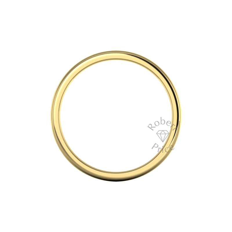 Soft Court Heavy Wedding Ring in 9ct Yellow Gold (8mm)