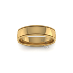 Millgrain Wedding Ring in 18ct Yellow Gold (5mm)