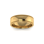 Millgrain Wedding Ring in 18ct Yellow Gold (6mm)