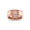 Millgrain Wedding Ring in 9ct Rose Gold (7mm)