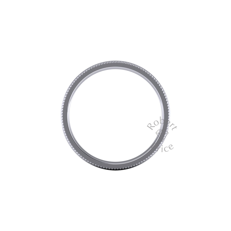 Millgrain Wedding Ring in Platinum (7mm)