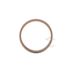 Millgrain Wedding Ring in 18ct Rose Gold (7mm)