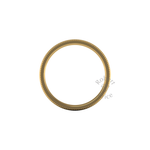 Millgrain Wedding Ring in 18ct Yellow Gold (7mm)