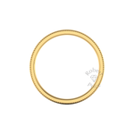 Millgrain Wedding Ring in 18ct Yellow Gold (8mm)