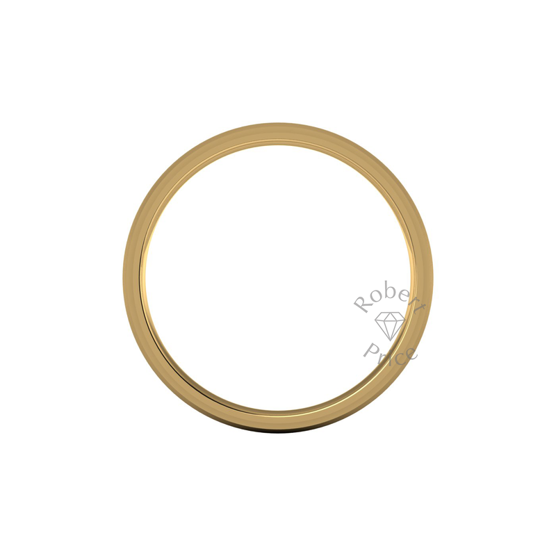 Two Tone Wedding Ring in 18ct Yellow Gold (5mm)