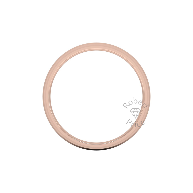 Two Tone Wedding Ring in 18ct Rose Gold (6mm)