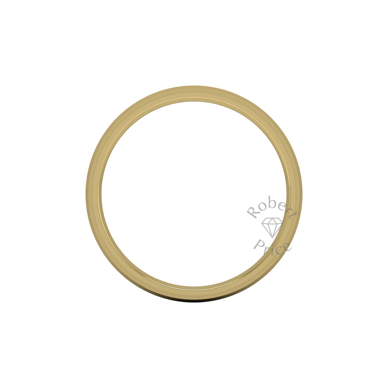 Two Tone Wedding Ring in 9ct Yellow Gold (6mm)