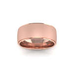 Two Tone Wedding Ring in 9ct Rose Gold (8mm)