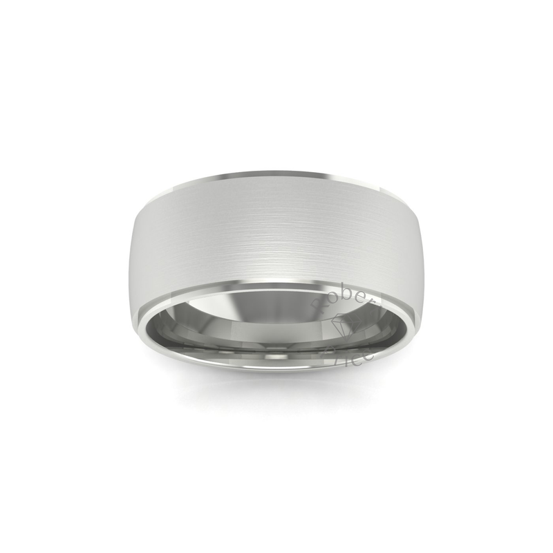 Two Tone Wedding Ring in 18ct White Gold (8mm)