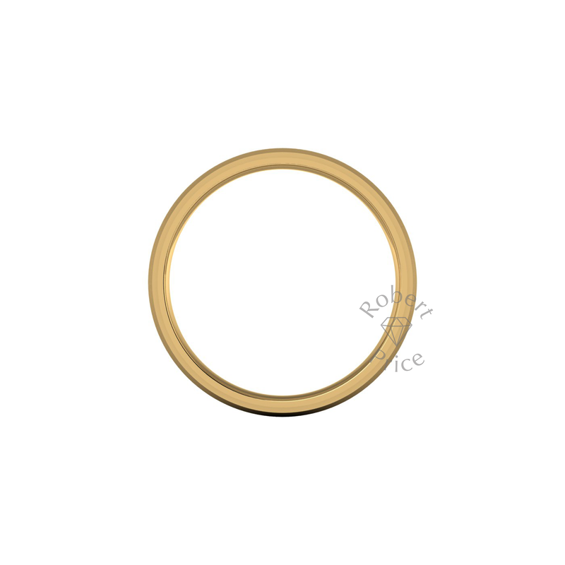 Two Tone Wedding Ring in 18ct Yellow Gold (8mm)