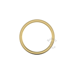 Two Tone Wedding Ring in 9ct Yellow Gold (8mm)