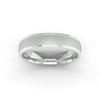 Two Tone Grooved Wedding Ring in 9ct White Gold (5mm)