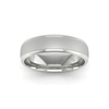 Two Tone Grooved Wedding Ring in 18ct White Gold (6mm)