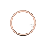 Two Tone Grooved Wedding Ring in 18ct Rose Gold (6mm)