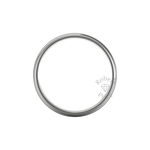 Two Tone Grooved Wedding Ring in 9ct White Gold (7mm)