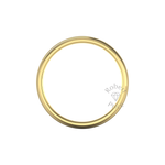 Two Tone Grooved Wedding Ring in 9ct Yellow Gold (7mm)