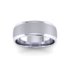 Two Tone Grooved Wedding Ring in Platinum (8mm)