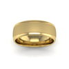 Two Tone Grooved Wedding Ring in 9ct Yellow Gold (8mm)