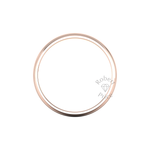 Two Tone Grooved Wedding Ring in 18ct Rose Gold (8mm)