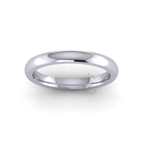 Classic Court Wedding Ring in Extra Heavy Weight (2.5mm)