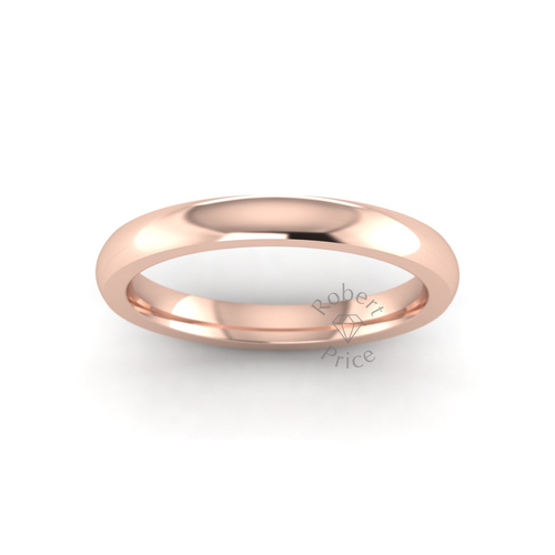 Classic Deluxe Wedding Ring in 18ct Rose Gold (2.5mm)