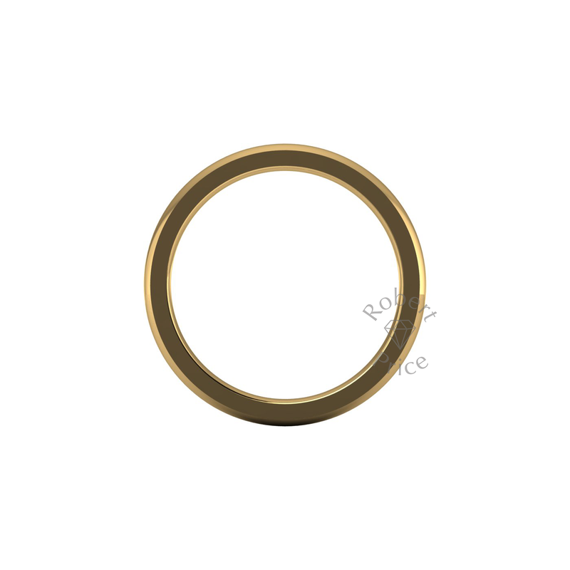 Classic Deluxe Wedding Ring in 18ct Yellow Gold (2.5mm)