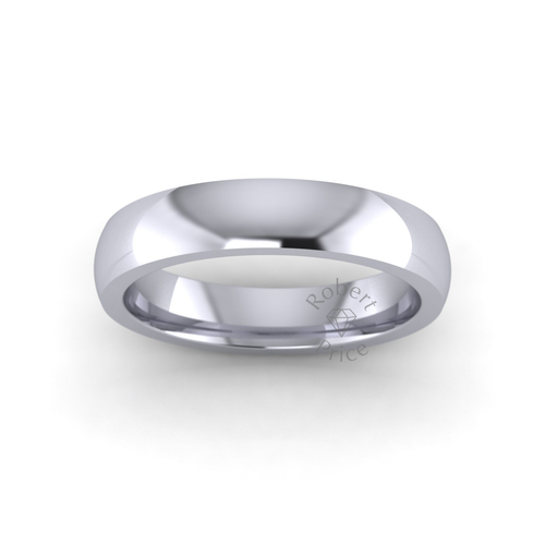 Classic Court Wedding Ring in Extra Heavy Weight (4mm)