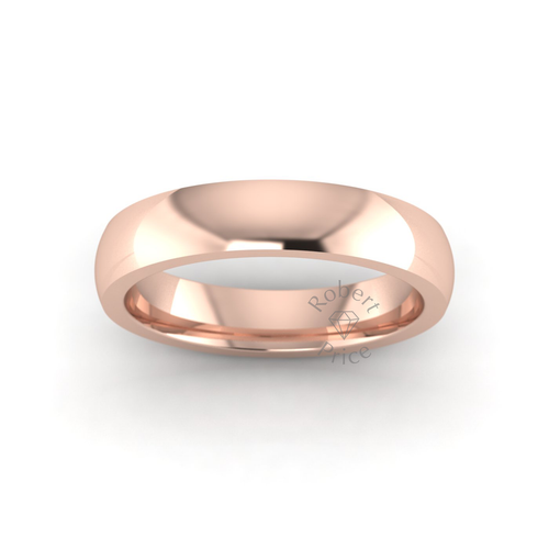 Classic Deluxe Wedding Ring in 18ct Rose Gold (4mm)
