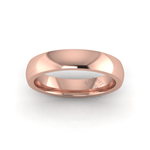 Classic Deluxe Wedding Ring in 9ct Rose Gold (4mm)