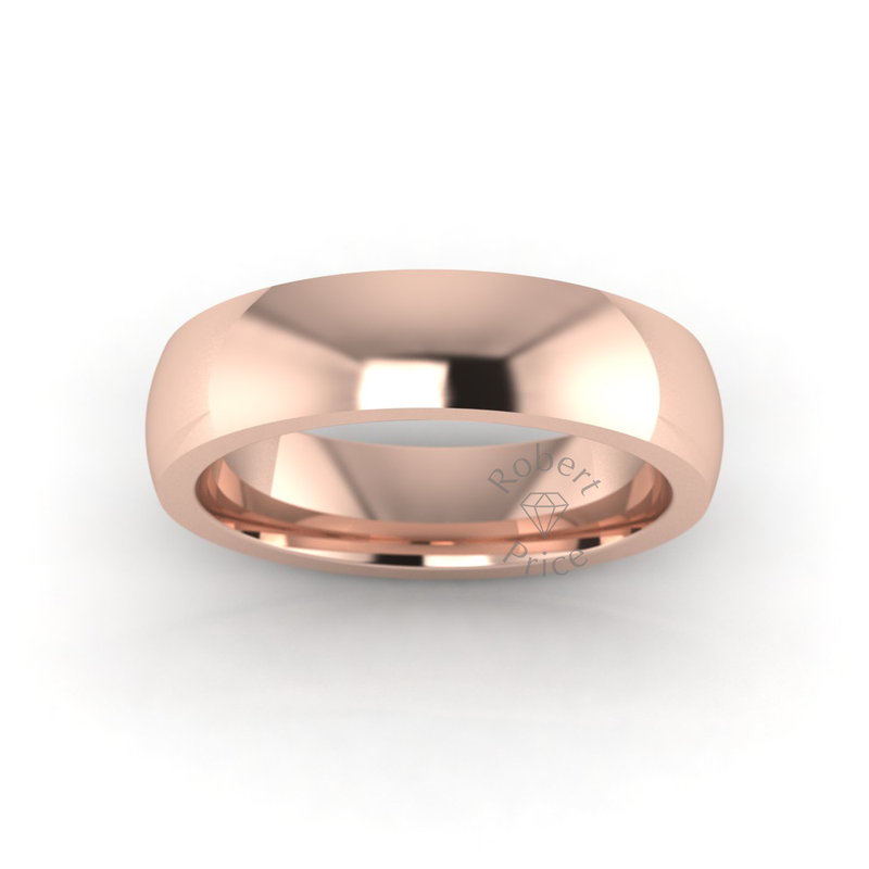 Classic Deluxe Wedding Ring in 18ct Rose Gold (5mm)