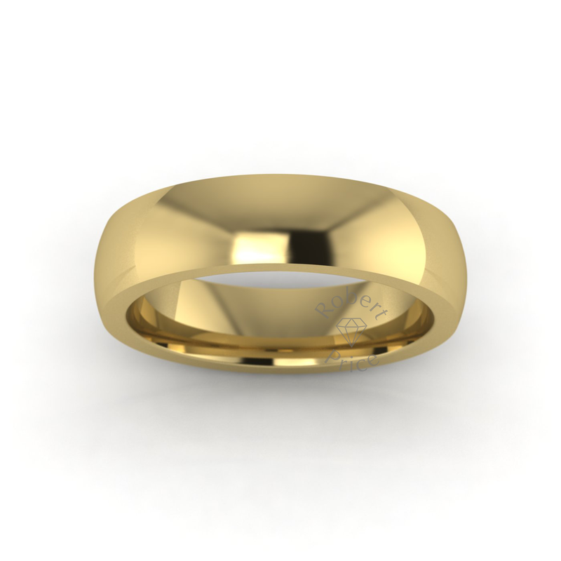 Classic Deluxe Wedding Ring in 9ct Yellow Gold (5mm)