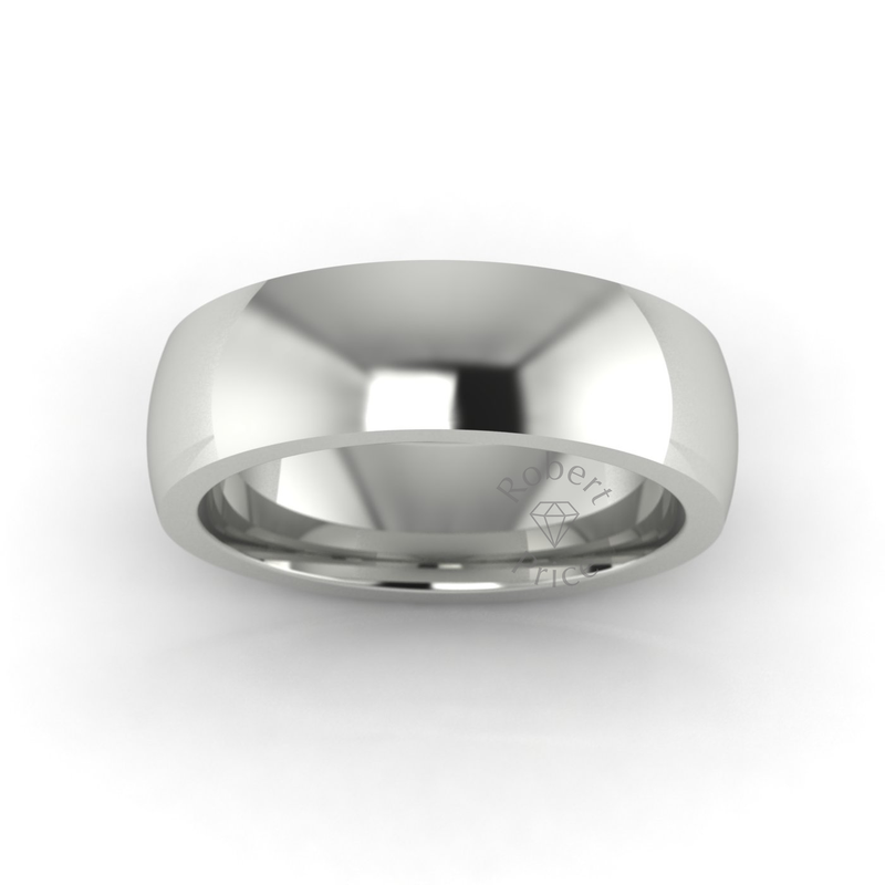 Classic Deluxe Wedding Ring in 18ct White Gold (6mm)