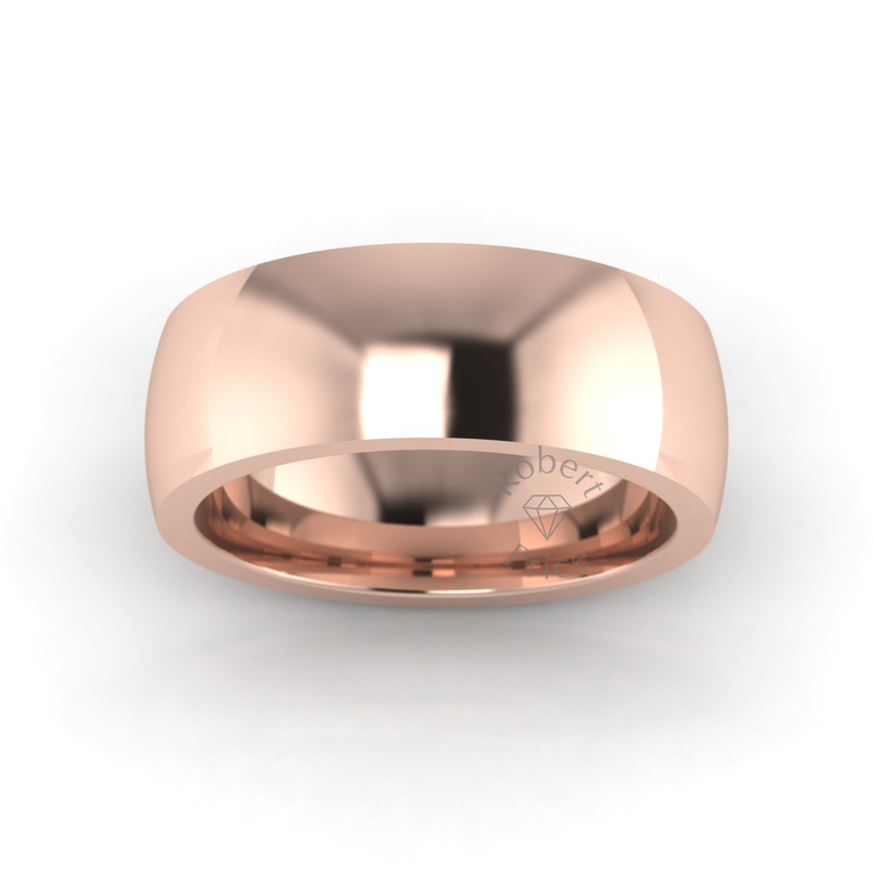 Classic Deluxe Wedding Ring in 18ct Rose Gold (7mm)