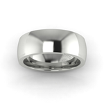 Classic Deluxe Wedding Ring in 18ct White Gold (7mm)