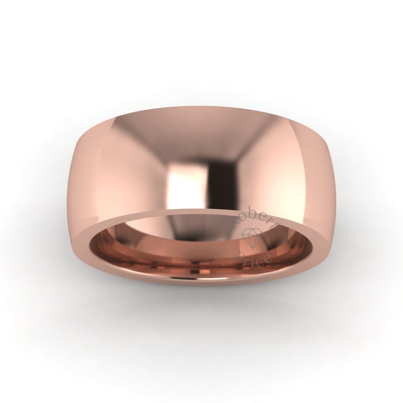 Classic Deluxe Wedding Ring in 9ct Rose Gold (8mm)