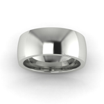 Classic Deluxe Wedding Ring in 18ct White Gold (8mm)
