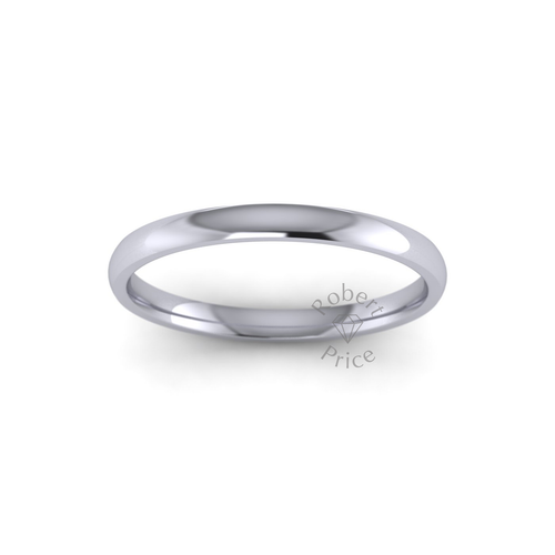 Classic Court Wedding Ring in Standard Weight (2mm)