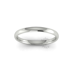 Classic Standard Wedding Ring in 18ct White Gold (2mm)
