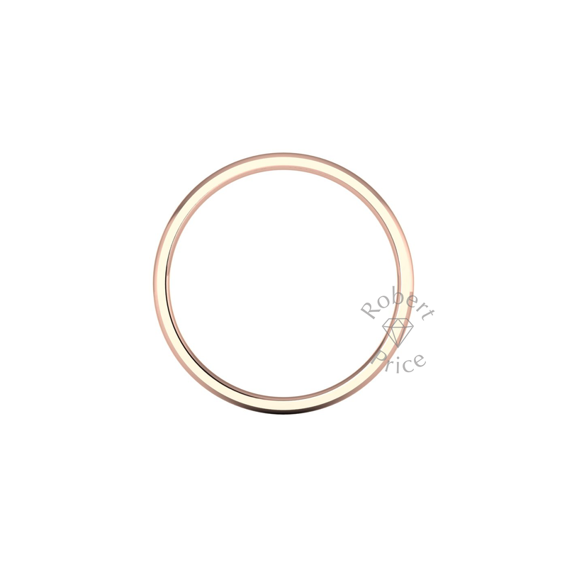 Classic Standard Wedding Ring in 9ct Rose Gold (2mm)