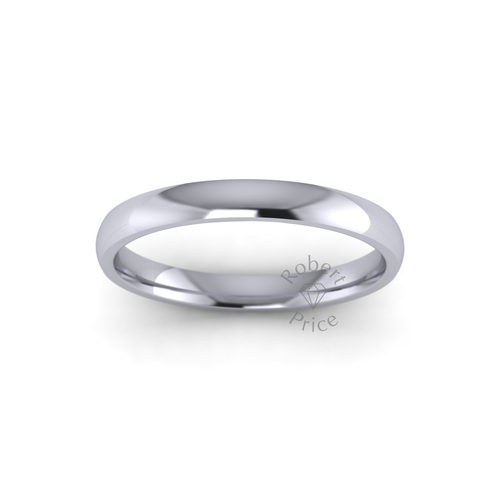 Classic Court Wedding Ring in Standard Weight (2.5mm)