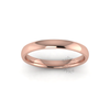 Classic Standard Wedding Ring in 9ct Rose Gold (2.5mm)
